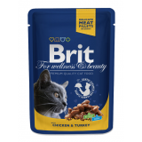 Brit Premium Cat Pouches with Chicken & Turkey