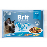 Brit Premium Cat Pouch Dinner Plate Gravy